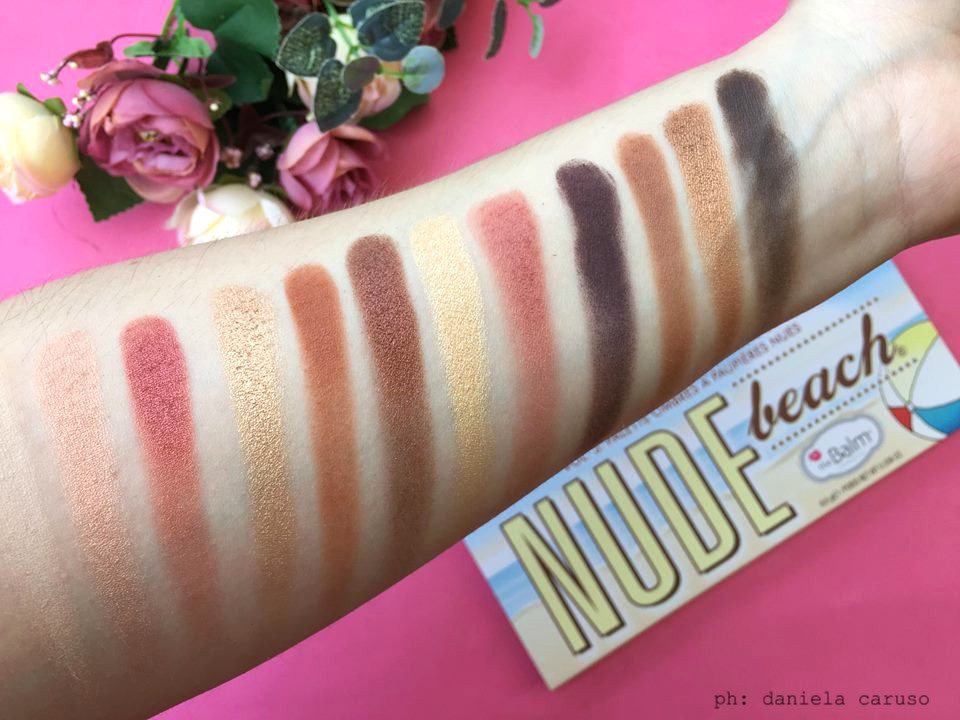 The balm beach nude palette swatches