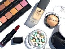 Elf Cosmetics, Flawless Finish Foundation, Prism Eyeshadow, Baked Bronzer, Mineral Pearls, Moisturizing Lipstick Crazy Cranberry [REVIEW]